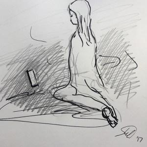 SJSchaffeld (2017) Prayers's Rock, pencil and pen on paper (A4)
