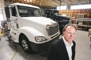 Martin Schuermann, CEO of Vision Industries, has sold a hydrogen-powered truck to the port of L.A.