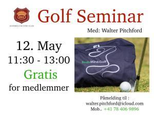 Gratis golfseminar 12. mai
