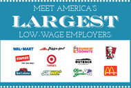 Meet the largest low wage employers in America.
