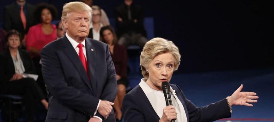 Trump stalking Hillary