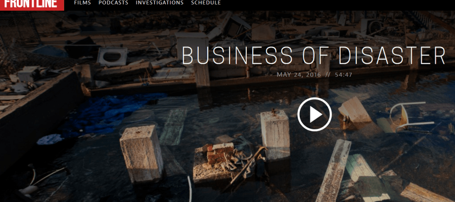 Business of Disaster