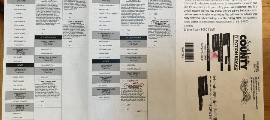 August 7 ballot