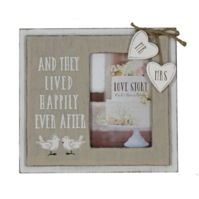 Wooden Happily Ever After Photo Frame Wedding Gifts