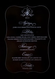 Acrylic Engraved- Ice Theme Wedding