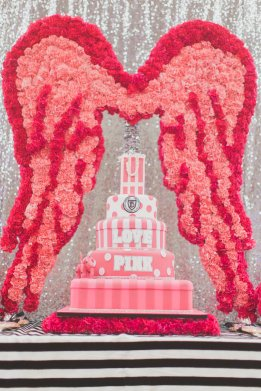 Victoria Secret PINK party houston event planner cake wings