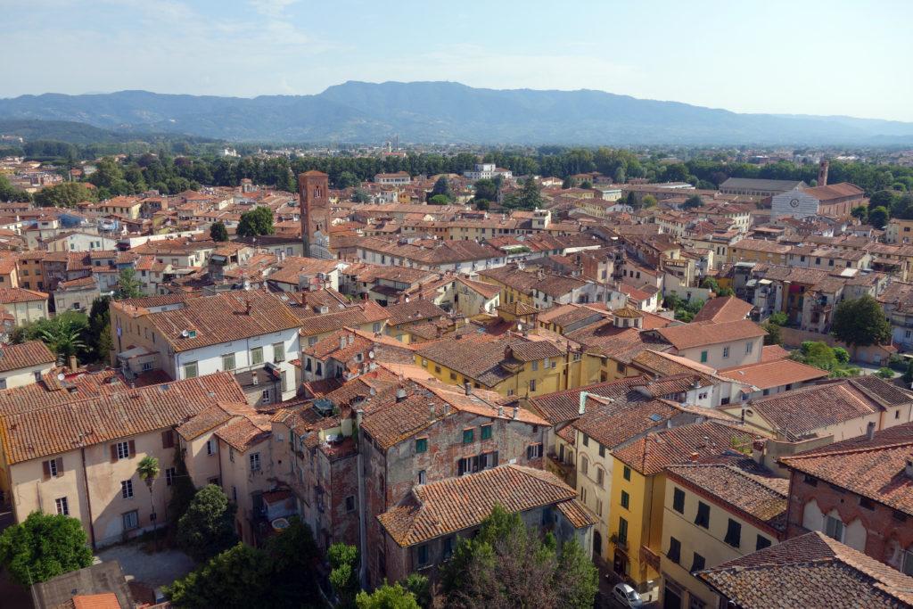 Lucca en Toscane vue d'en haut