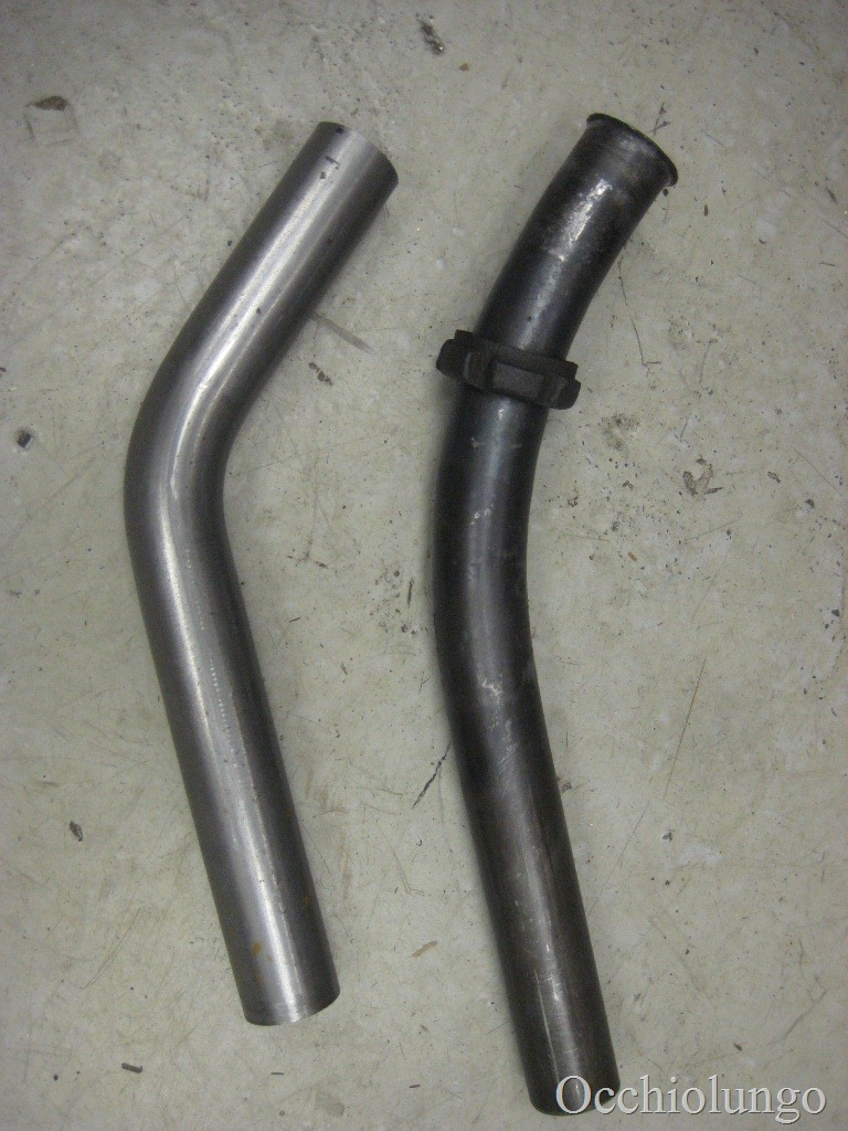 how to make an exhaust pipe occhio lungo