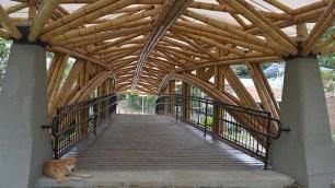 Puente de guadua en el corregimiento de Mulaló