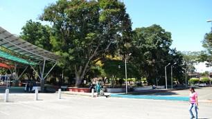 El parque principal de Obando