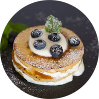 pancake myrtilles