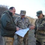 South Ossetia President Bibilov inspects police post near Chorchana