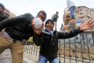 Jan 11 2013 Palestinians play in the snow in Ramallah - Photo by WAFA