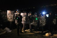 Jan 13, 2013 Israeli Forces evict Bab Al Shams emcampment at 4 am - Jerusalem district - Photo by Aloise Bollack - WAFA