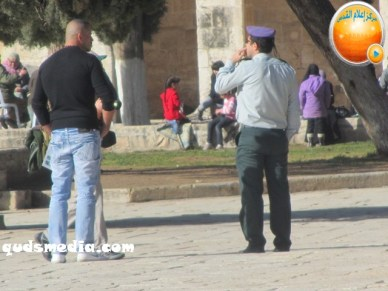 Febr 7 2013 Settlers and armed forces desecrate al-Aqsa Mosque - Photo by QudsMedia 24