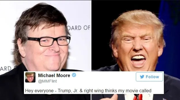 Trump Jr. Thinks Michael Moore Endorsed His Dad. Moore's Response Is Hilarious