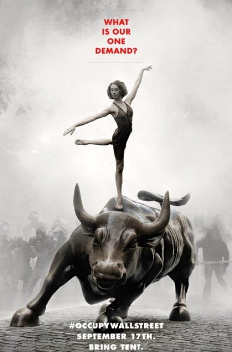 OWS Ballerina on Wall Street Bull