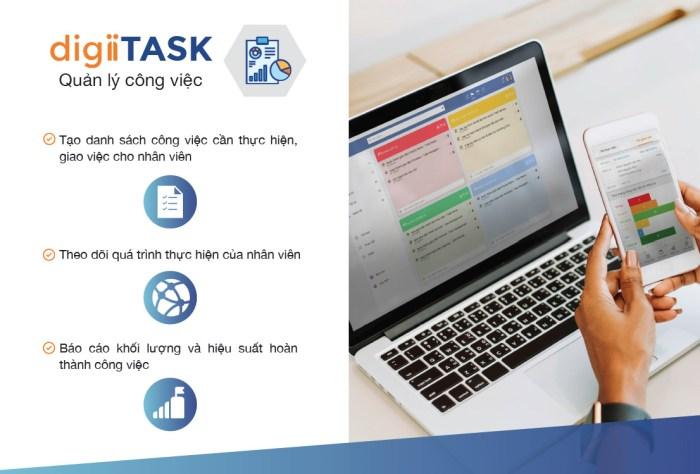 Phần mềm quản lý giao việc digiiTask