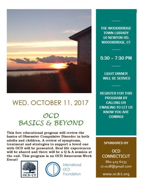 OCD Basics & Beyond-Woodbridge, CT Oct. 11, 2017