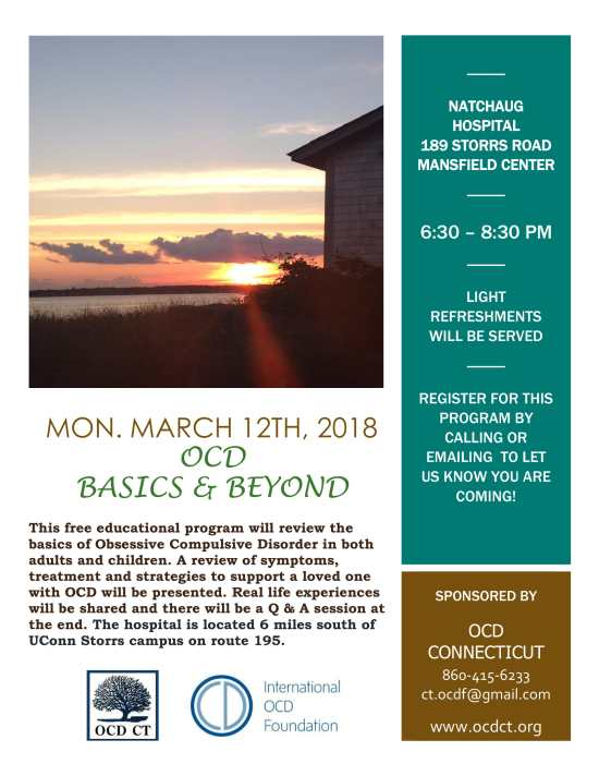 OCD Basics & Beyond, Mansfield Center (03-12-18)