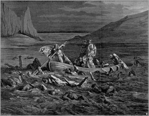 Gustave Dore's illustration of Dante's Inferno in which the narrator is crossing the River Styx in hell. When struggling with depression or ocd in their rawest and deepest forms I oftentimes feel as if I am in hell...and this is one of the reasons why I struggle with hell theologically to such a great extent.