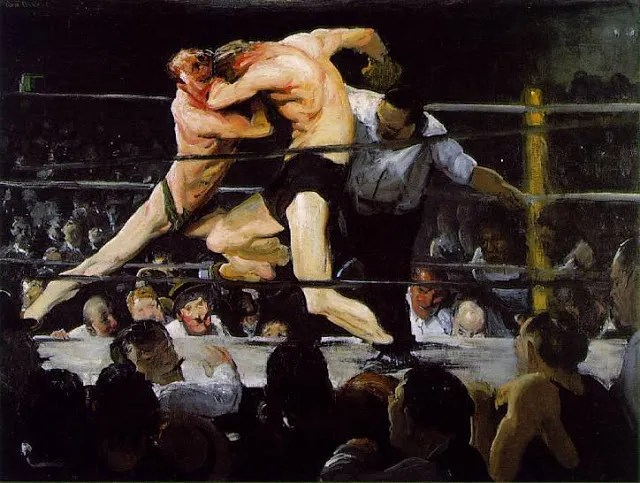 Stag at Sharkeys by George Bellows (1909).