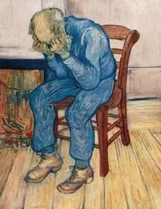 Vincent Van Gogh's Old Man in Sorrow.