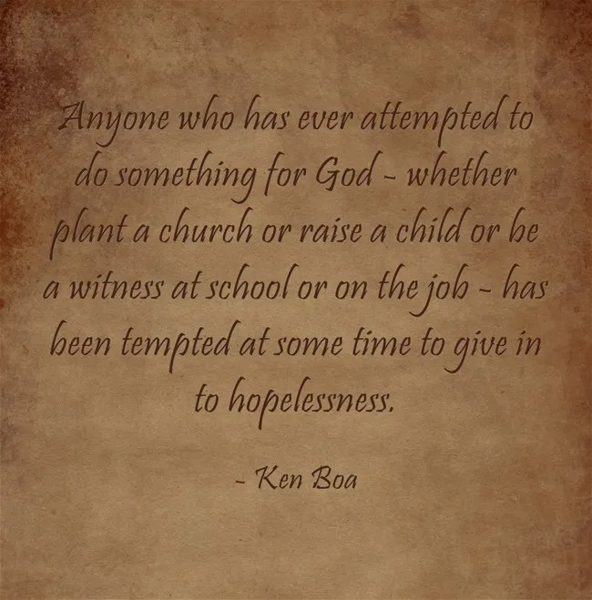 A quote by Kenneth Boa.