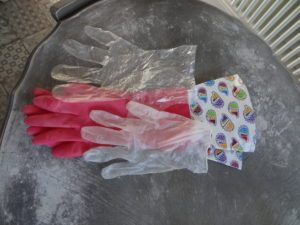 Various protective gloves