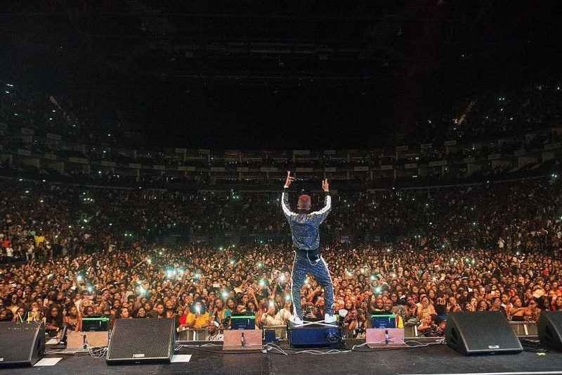 Wizkid at one of his sold out concerts [Instagram/WizkidAyo]