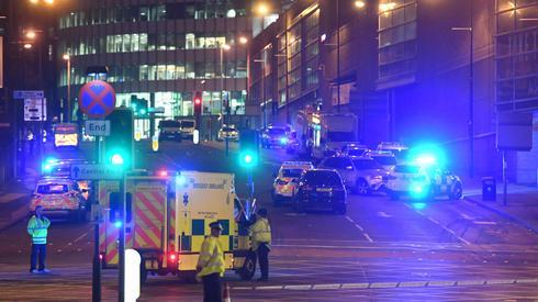 Policja na miejscu zdarzenia (Fot. Paul ELLIS/AFP)