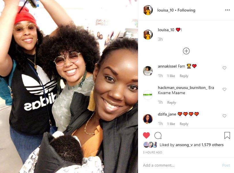 Louisa's Instagram Post