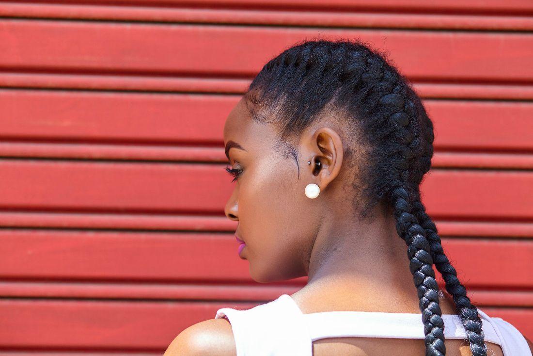 2 cornrows for bad hair days (pinterest)