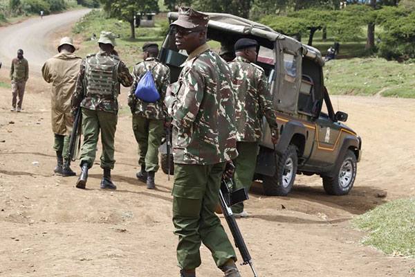 A group of Kenyan police officers
