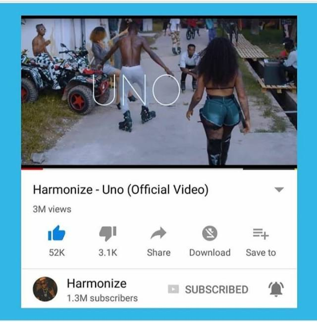 Harmonize speaks out for the first time as hit song UNO gets re-uploaded on YouTube