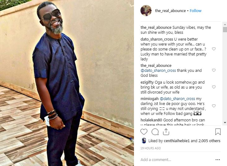 Yvonne Jegede's husband replies Instagram follower over comments about marriage [Instagram/The_Real_Abounce]