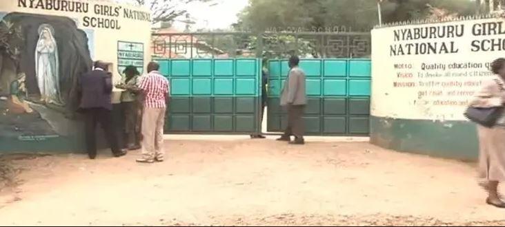 The main entrance to Nyabururu Girls National School in Kisii