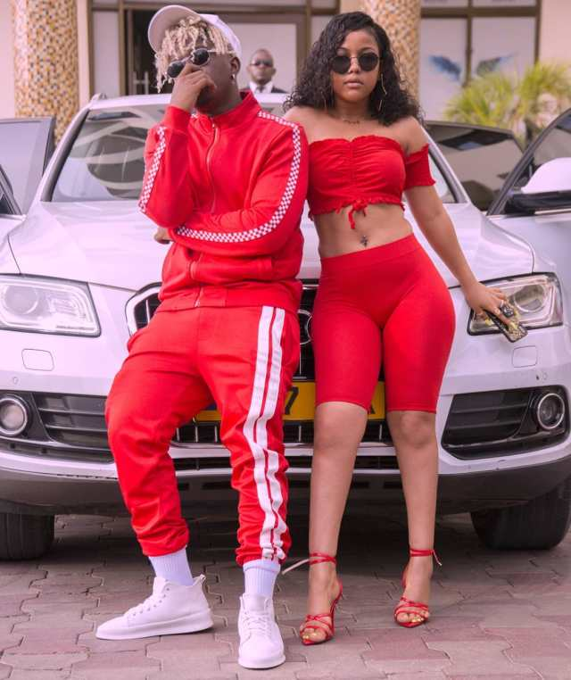 Rayvanny and his Baby Mama Fahyma. Rayvanny's Baby Mama drops hint of their wedding date