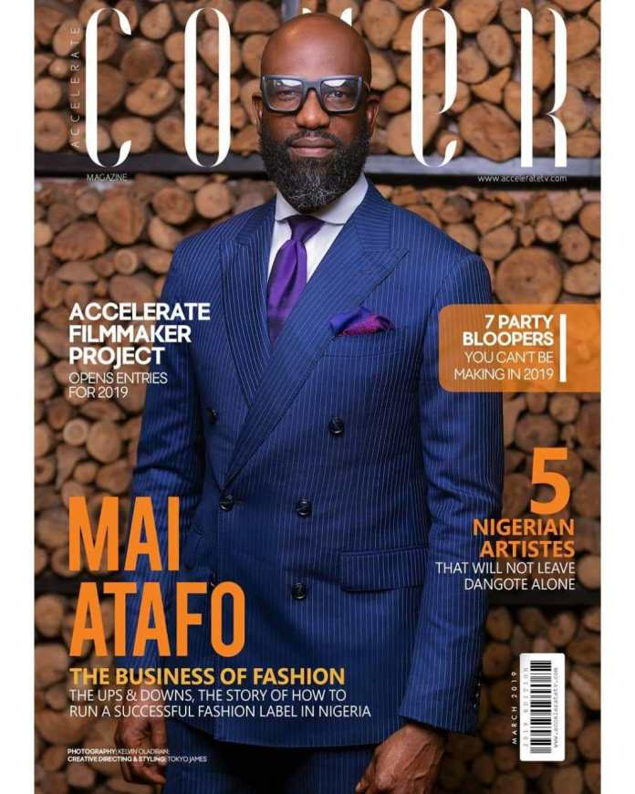 Mai Atafo is suited and booted as he graces Accelerate TV's 'The Cover'