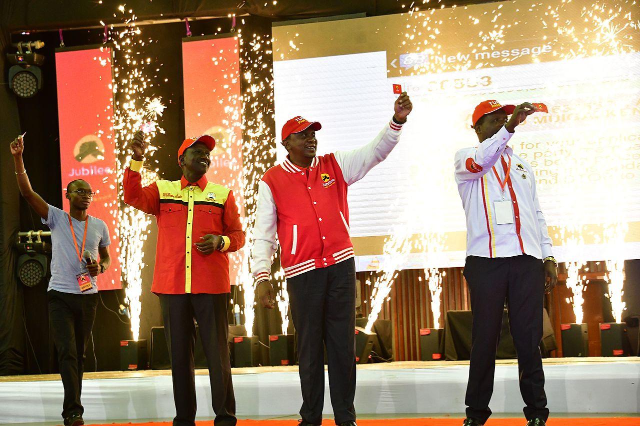 File image of President Uhuru Kenyatta and DP Ruto at a past party event