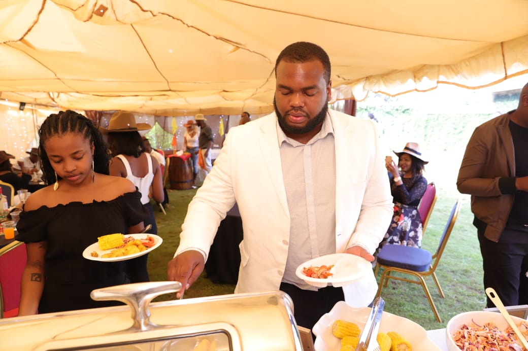 Akothee's ex-manager Nelly Oaks at DWG's birthday party
