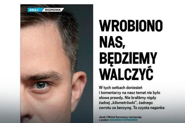 Fragment rozmowy z Adamem Hofmanem - portal wpolityce.pl