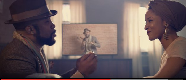 Banky W sings for Adesua Etomi in video 'Made for you'
