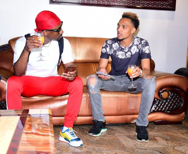 Chris Martin with KRG the Don. Chris Martin's Big Deal Concert moved to Impala Grounds from KICC