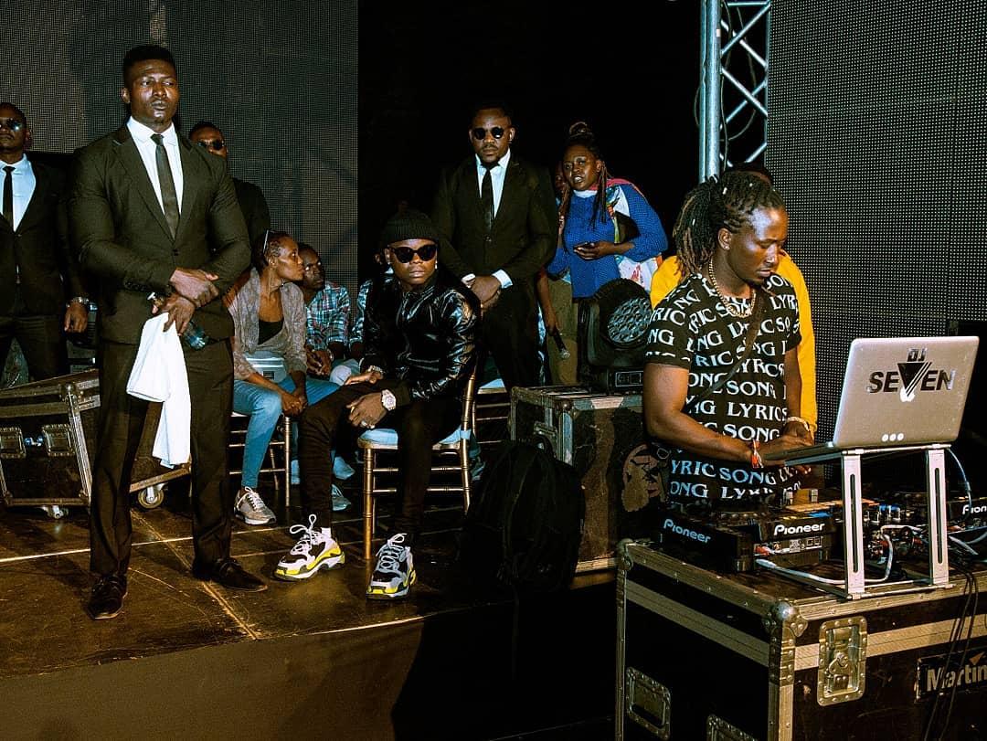 Harmonize with his crew in Nairobi.