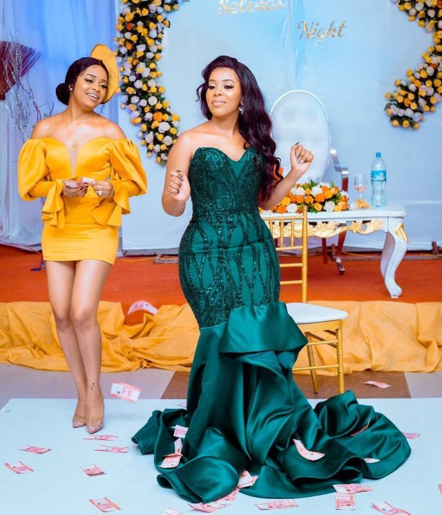 Nandy's sister and official stylist Celine Mfinanga walk down the aisle in lavish ceremony (Photos)