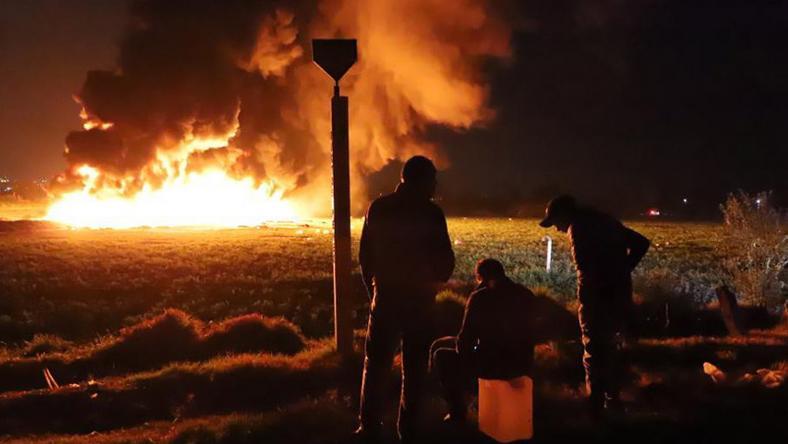 Egy olajvezeték robbant fel / Fotó: EPA