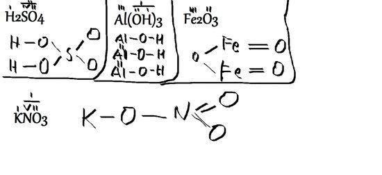 Narysuj wzory strukturalne następujących związków : H2SO4. NaCL . AL(OH)3 . Fe2O3 . KNO3. – zadania. ściągi i testy – Zapytaj.onet.pl