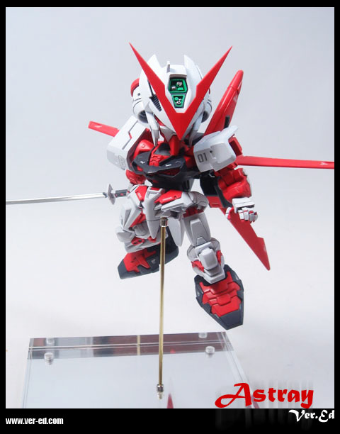 Custom Build MBFP02 Gundam Astray Red Frame SD ocealos