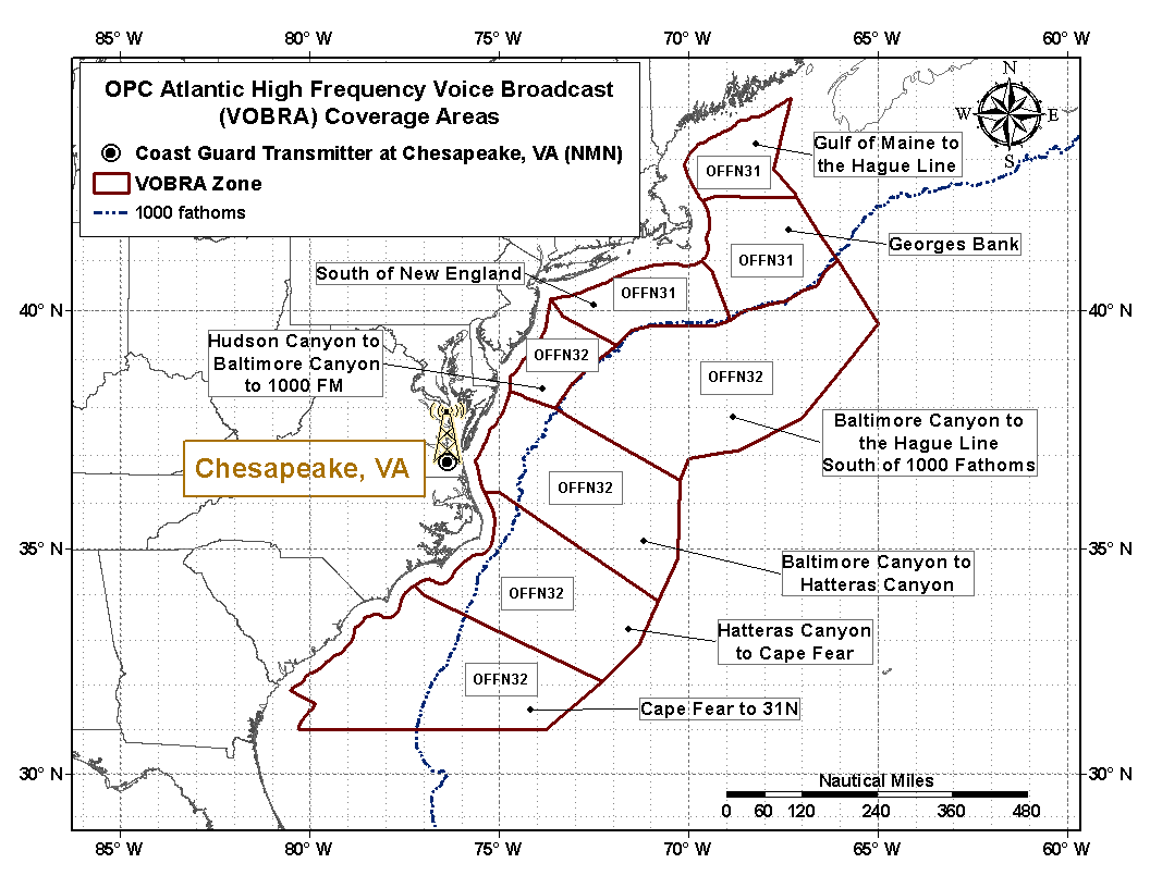 hight resolution of atlantic high frequency voice broadcast areas
